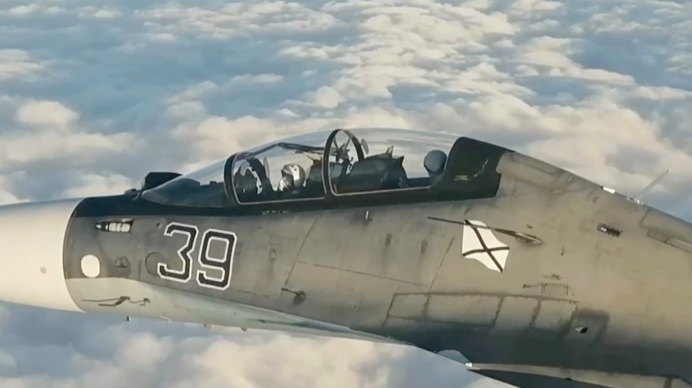 Two Su-30s were dispatched to identify the aircraft and prevent it entering Russian airspace, according to the Russians